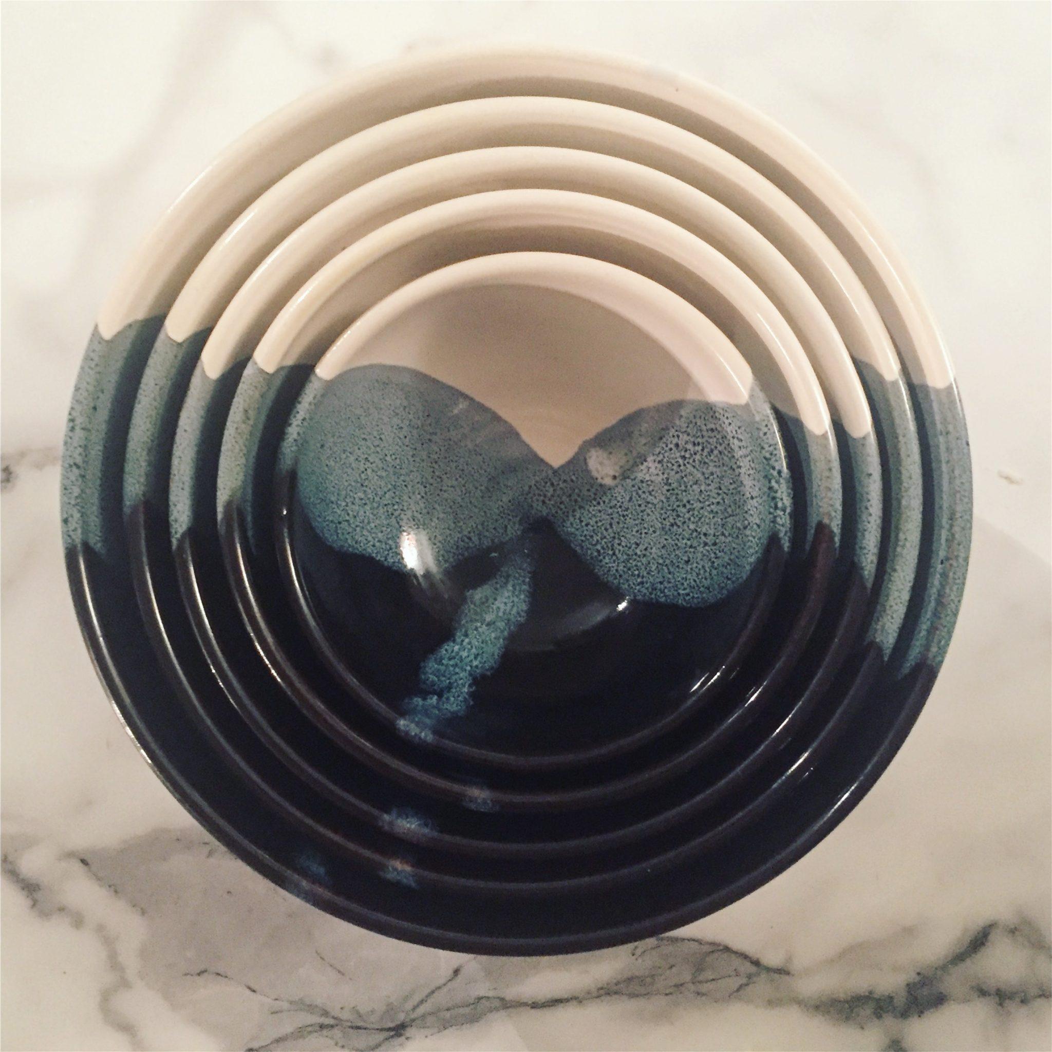 black swirl bowl